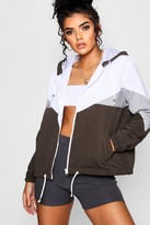 boohoo Hooded Panelled Windbreaker