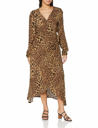 True Religion Women's Wrap Dress Long Sleeve Casual