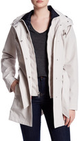 Nautica Hooded Belt Raincoat