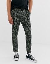 Asos DESIGN skinny pants in abstract animal print
