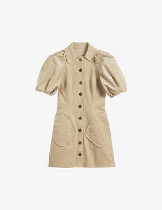 Ted Baker Tildare stretch-cotton corduroy mini dress