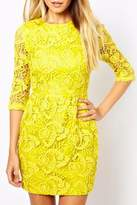 Haoduoyi Yellow Lace Dress