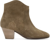 Isabel Marant Brown Suede Dicker Ankle Boots
