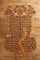 Anthropologie Embroidered Tiger Rug