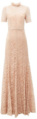 Goat Imelda Cotton-blend Guipure-lace Gown - Womens - Light Pink