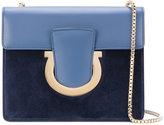 Salvatore Ferragamo silver chain shoulder bag - women - Leather/Suede - One Size