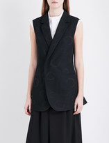 Y's Ys Abstract-print wool and cotton-blend waistcoat
