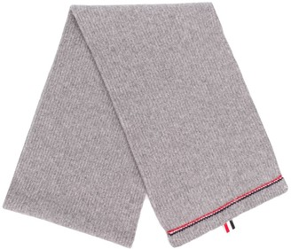 Thom Browne RWB Tipping Over-Washed Scarf