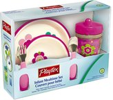 Playtex Baby BPA-Free Kids Mealtime Set, Pack of Plate, Bowl, Utensils and Insulated Cup, 12 Months +