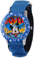 Disney Super Adventure Mickey Mouse Kids Blue Nylon Strap Watch