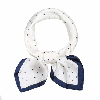 SOJOS Silk Like Scarf Bandanas Satin Hair Scarf Fashion Neck Scarfs for Women 27'' x 27'' SC303 - White - Small