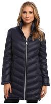 Calvin Klein Zip Front Long Packable Down Jacket CW312100