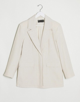 ASOS DESIGN Double layered jacket in natural