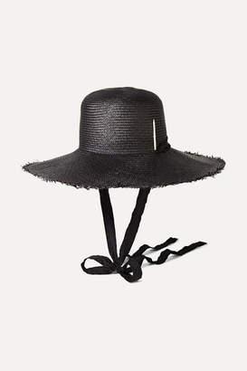 Nick Fouquet + Brock Collection Embellished Straw Hat - Black