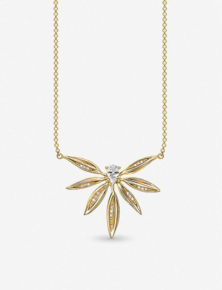 Thomas Sabo Magic Garden 18ct gold-plated sterling silver and zirconia necklace