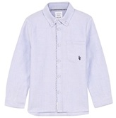 Carrement Beau Blue Oxford Shirt with Piping
