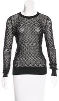 Jason Wu Silk-Blend Long Sleeve Sweater
