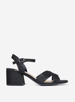 Dorothy Perkins Womens Wide Fit Black 'Boom' Block Heeled Sandals, Black