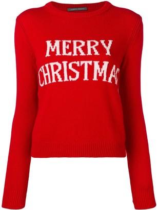 Alberta Ferretti Merry Christmas knit sweater
