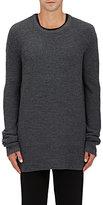 Nlst Men's Merino Wool Oversized Sweater-Dark Grey Size M