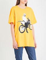 Justin Bieber Motorcycle cotton-jersey T-shirt