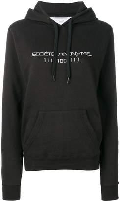 Societe Anonyme printed logo hoodie