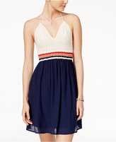 Speechless Juniors' Crochet Halter Dress, A Macy's Exclusive