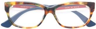 Gucci Tortoiseshell Square Frame Sunglasses