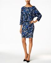Nine West Printed Blouson Jersey Dress