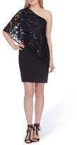 Tahari Women's One-Shoulder Sequin Dress
