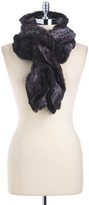 Lord & Taylor Faux Fur Ruffled Scarf
