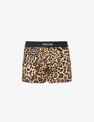 Tom Ford Leopard-print slim-fit stretch-cotton boxer briefs