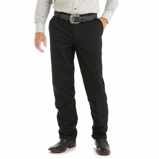 Wrangler Men's Riata Flat Front Relaxed Fit Casual Pant