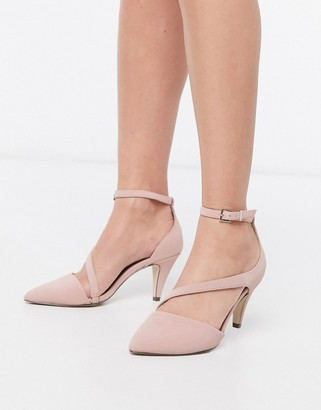 Call it SPRING aerracia mid heel cross strap shoes in beige