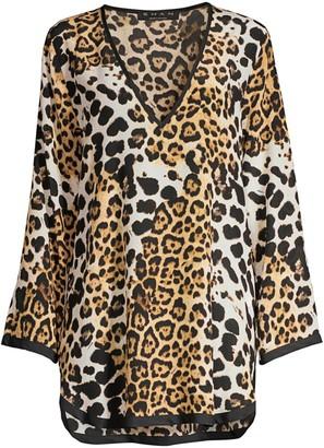 Shan Kawa Leopard Silk Cover-Up
