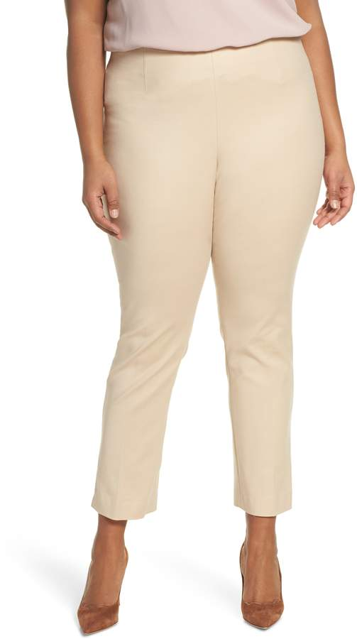 Ankle Vent Crop Cotton Blend Pants