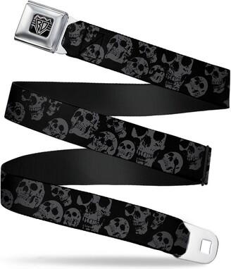 Buckle Down Buckle-Down Unisex-Adults Seatbelt Belt Skulls Regular