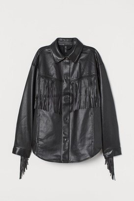 H&M Imitation leather shacket