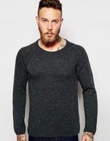 Nudie Jeans Nudie Crew Jumper Vladimir Knit Neps Raglan Sleeve - Grey
