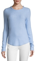Ribbed Crew Cashmere Sweater
