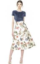 Alice + Olivia Fila Hw Midlength Bell Skirt
