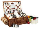 Picnic at Ascot Dorset Basket for 4 w/Coffee Set & Blanket -Santa Cruz