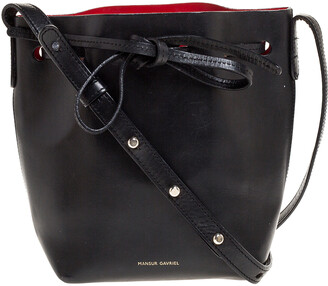 Mansur Gavriel Black Leather Mini Bucket Bag