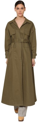 Jacquemus Belted Cotton Canvas Trench Coat