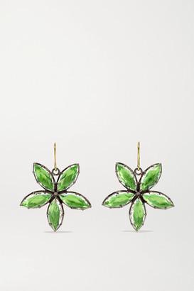 Larkspur & Hawk Sadie Astra Rhodium-dipped Quartz Earrings - Gold