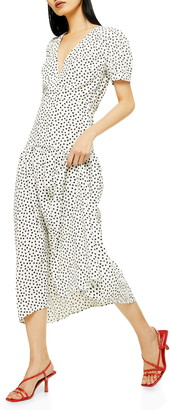 Topshop Starlight Spot Print Midi Dress