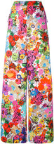 Ports 1961 floral print wide-legged trousers - women - Cotton - 36