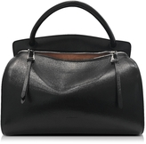 Jil Sander Blunt Black Leather Medium Handbag