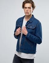 Brixton Harlan Denim Jacket With Striped Blanket Lining