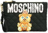 Moschino crowned bear clutch - women - Polyester/Nylon - One Size